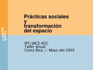 Pr cticas sociales y transformaci n del espacio