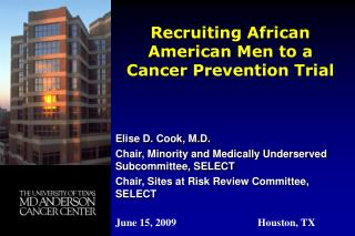 Recruiting African American Men to a Cancer Prevention Trial