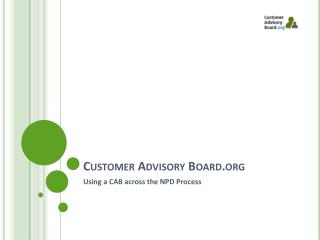 Customer Advisory Board