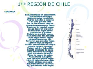 1era REGI N DE CHILE