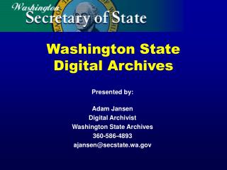 Washington State Digital Archives