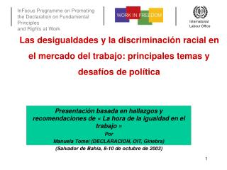 Las desigualdades y la discriminaci n racial en el mercado del trabajo: principales temas y desaf os de pol tica