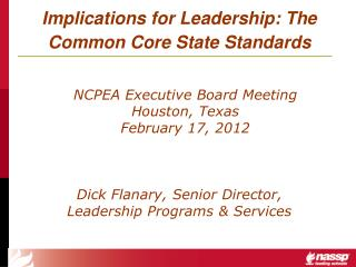 Implications for Leadership: The Common Core State Standards