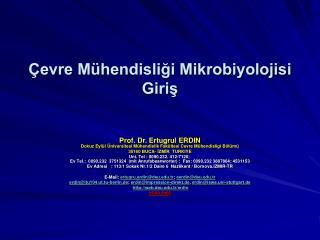 evre M hendisligi Mikrobiyolojisi Giris