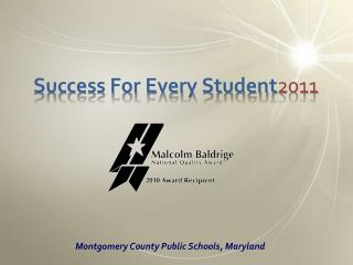 Success For Every Student2011