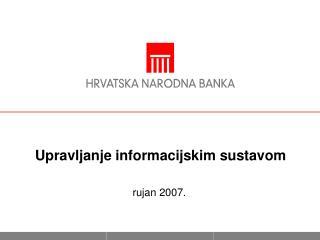 Upravljanje informacijskim sustavom