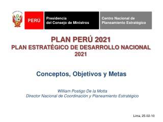 PLAN PER  2021 PLAN ESTRAT GICO DE DESARROLLO NACIONAL 2021