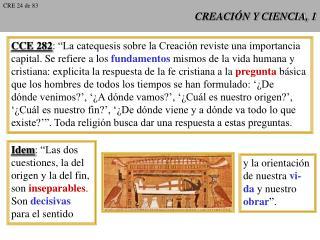 CREACI N Y CIENCIA, 1