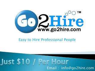 Go2hire.com Hire Developers Just $10