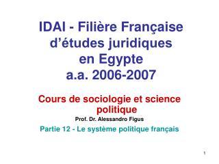 IDAI - Fili re Fran aise d  tudes juridiques  en Egypte a.a. 2006-2007