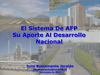 El Sistema De AFP  Su Aporte Al Desarrollo Nacional