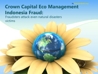 Zimbio - Crown Capital Eco Management Indonesia Fraud