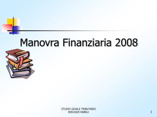 Manovra Finanziaria 2008