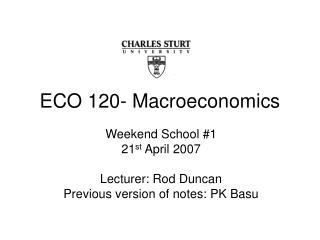 ECO 120- Macroeconomics