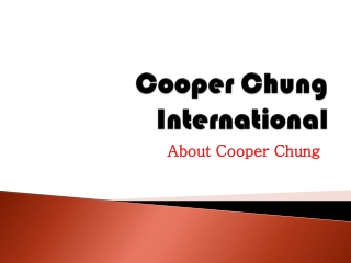 Cooper Chung International: About Cooper Chung – scribd