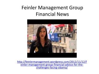 Feinler Management Group Financial News