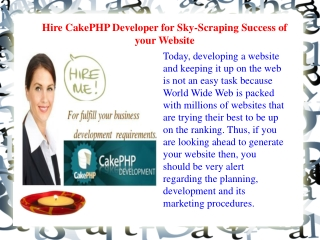 Hire CakePHP Developer for Complex Web-Site Development