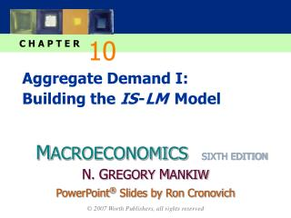 Aggregate Demand I: Building the IS -LM  Model