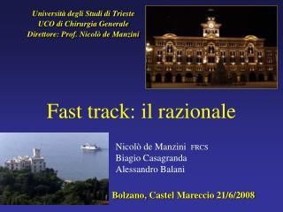 Fast track: il razionale