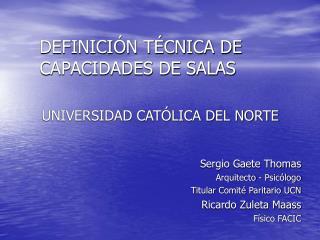 DEFINICI N T CNICA DE CAPACIDADES DE SALAS