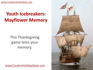 Youth Icebreakers: Mayflower Memory