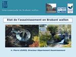 Etat de l assainissement en Brabant wallon