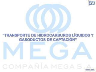 TRANSPORTE DE HIDROCARBUROS L QUIDOS Y GASODUCTOS DE CAPTACI N