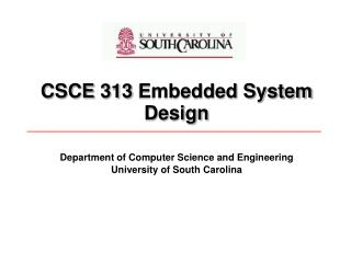 CSCE 313 Embedded System Design