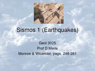 Sismos 1 Earthquakes