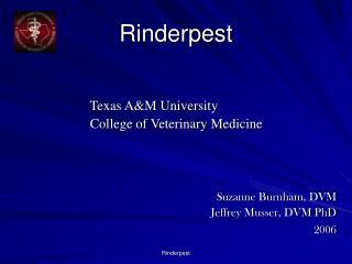 Rinderpest PowerPoint