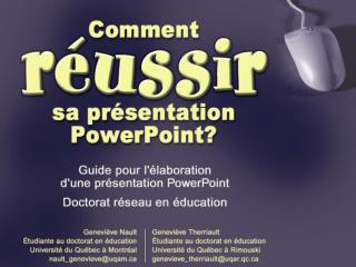 Comment r ussir sa pr sentation PowerPoint Guide pour l  laboration d une pr sentation PowerPoint r ussie