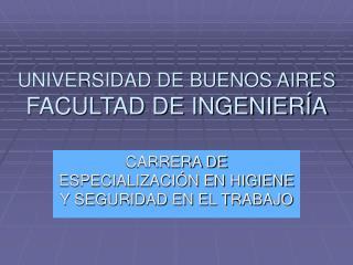 UNIVERSIDAD DE BUENOS AIRES FACULTAD DE INGENIER A
