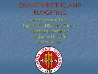 GRANT WRITING AND BUDGETING