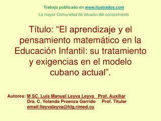 T tulo:  El aprendizaje y el pensamiento matem tico en la Educaci n Infantil: su tratamiento y exigencias en el modelo c