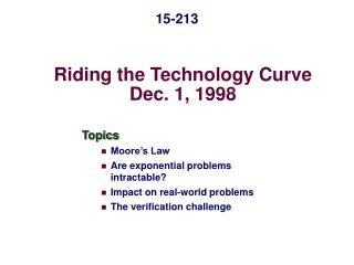 Riding the Technology Curve Dec. 1, 1998