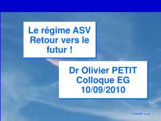 Dr Olivier PETIT Colloque EG 10