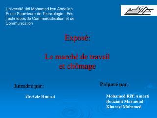 Universit  sidi Mohamed ben Abdellah  cole Sup rieure de Technologie  F s Techniques de Commercialisation et de Communic