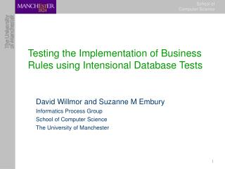 Testing the Implementation of Business Rules using Intensional Database Tests