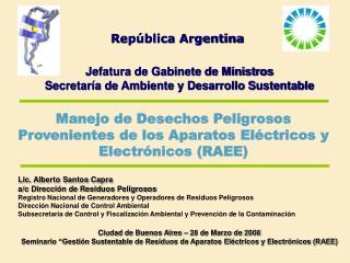 Rep blica Argentina   Jefatura de Gabinete de Ministros Secretar a de Ambiente y Desarrollo Sustentable