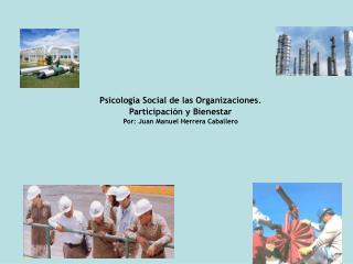 Psicolog a Social de las Organizaciones. Participaci n y Bienestar  Por: Juan Manuel Herrera Caballero