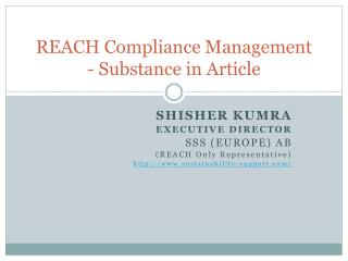 REACH Compliance Management - Substance in Article
