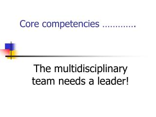 Core competencies     .