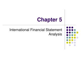International Financial Statement Analysis