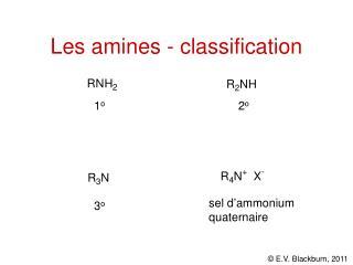 Les amines - classification