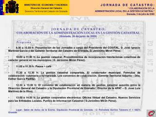MINISTERIO DE  ECONOM A Y HACIENDA                                   Direcci n General del Catastro