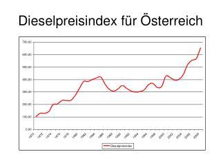 Dieselpreisindex f r  sterreich