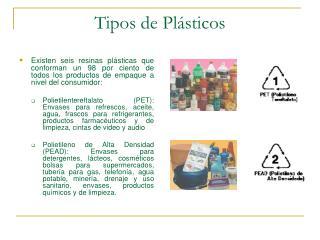 Tipos de Pl sticos