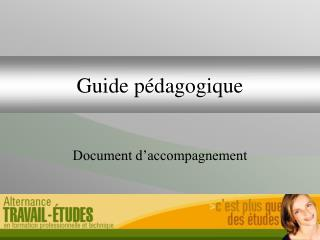 Guide p dagogique