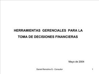Daniel Remolina G - Consultor