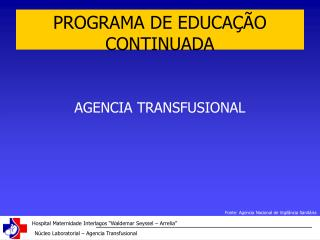 PROGRAMA DE EDUCA  O CONTINUADA